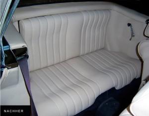 Sitzbank eines Oldtimers - Innenausstattungen