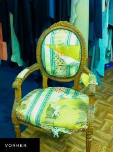 schöner alter Stuhl - Polsterarbeiten